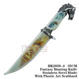 Caballo Cuchillos de caza Camping Cuchillo táctico de cuchillo de supervivencia de 34cm.