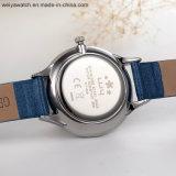 주문 상표 가죽끈 석영 여자 시계 (Wy-096C)