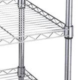안정되어 있는 철사 선반설치 또는 철사 선반 또는 저장 선반은 구조를 아래로 두드린다