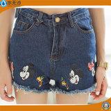 La primavera de 2018 a las mujeres Casual Slim Fit Mini Shorts Denim de algodón