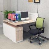 Estação de trabalho do Office System de madeira com armário