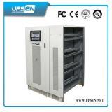 Pantalla LCD de baja frecuencia de onda sinusoidal pura de tres fases de UPS para máquina de impresión Industrial 10-200kVA sistema UPS