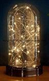 Indicatore luminoso a pile della decorazione di natale della base LED Lightchain dell'indicatore luminoso di vetro della decorazione