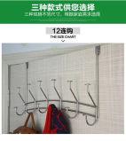 Metal über den Haken der Tür-12 im Schlafzimmer für hängenden Mantel