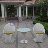 Silla al aire libre elegante blanca de la rota del PE del ocio del balcón del jardín