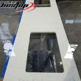 De kunstmatige Bovenkant van de Lijst van het Kwarts van de Steen van Carrara Witte Vierkante Samengestelde