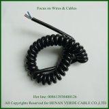 3x0.75mm2 personnalisé câble PUR Le câble enroulé en spirale