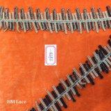 4.5cm Gold und schwarze Streifen-Zeile Spitze-Farbband, dekorative Marine-Tuch-Zutat-Spitze Hme873