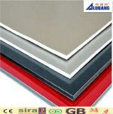Hojas plásticas compuestas de aluminio de aluminio del material de construcción del revestimiento