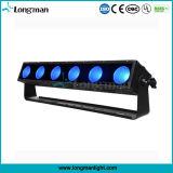 新しいセリウム6*25Wの穂軸のRgbaw Aluminm LEDの壁の洗浄ライト