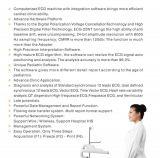 Moniteur patient de matériel d'hôpital de la machine ECG-20nt (électrocardiographe) de l'équipement médical ECG