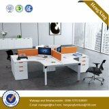 4 Sitzgerade Büro-Partition-Metallbein-Arbeitsplatz-Büro-Möbel (HX-NJ5005)