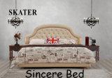 A09 미국식 침실 직물 침대 가죽 침대