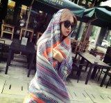 Печатание цифров высокого качества шарф изготовленный на заказ Silk (HJ1707-036)