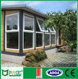 سعر رخيصة ألومنيوم ظلة نافذة مع يليّن زجاج