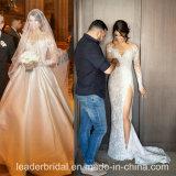 Поезд Bridal мантий шнурка экстренный застегивает заднее платье венчания M2017