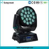 RGBW 19X15W Zoom светодиод перемещения головки блока цилиндров для мойки Disco