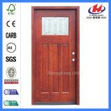 チーク木製フレームの教室の内部の固体木のドア