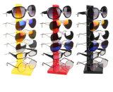6 Vertoning van de Houder van Eyewear van het Rek van het Frame van de Glazen van het Oog van de Zonnebril van het paar de Tegen