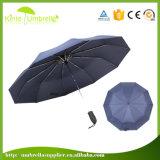 최신 판매 자동적인 열려있는 마지막 10 K 3 겹 우산