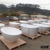 Hot Sale d'oeufs de la résine forme une surface solide autostable baignoire en pierre