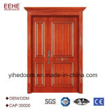 Puerta de madera de madera de puertas de entrada del diseño de la puerta de la teca del chalet
