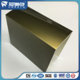 Elektrophorese-quadratisches Aluminiumrohr ISO-6063t5 Champagne für Tür
