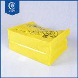 Golden Laser Non-Woven laminado de luxo Sacola de Compras para as mulheres