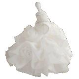 L'organza ene ivoire a hérissé la robe de fille pour le mariage