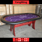 Table de Poker Texas Holdem / Porte-gobelets en acier inoxydable Ym-Tb020