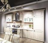 Cabinas de cocina blancas de madera de la madera contrachapada de las cabinas de cocina de la pintura del estilo americano