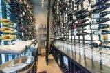 Cremagliera fissata al muro di memoria di vetro di vino del metallo della cremagliera di Stemware
