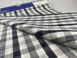 Il filo di cotone ha tinto il tessuto dell'assegno tinto spazio per Shirt-Lz6536