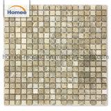 De forma cuadrada barato de la luz de color marrón emperador cuarto de baño baldosas mosaico de mármol