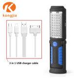 Indicatore luminoso magnetico d'attaccatura ricaricabile del lavoro del USB LED