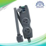 2つのACアウトレットおよび2 USBのビジネスの外の走行のための速い充電器ポートの拡張力のストリップのソケット