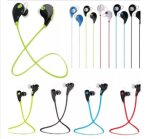 무선 Bluetooth 이어폰 입체 음향 헤드폰 Mic 지원을%s 가진 방수 스포츠 이어폰