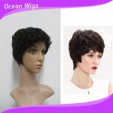최신 판매 사람의 모발 100%년 Virgin 머리 간결 가발