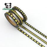 カラー5mm細い金ホイルの付着力のWashiの黒い保護テープ
