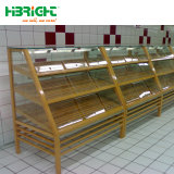 Supermercado tienda y el pan de madera Mostrar Rack