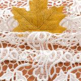 Tessuto francese del merletto del Crochet del poliestere di stile
