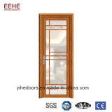 Porte en aluminium en verre givré de bâti de couleur en bois des graines pour l'usage de toilette