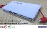 Batería portable incorporada Multi-Funtional de la potencia del cargador del cable 10000mAh