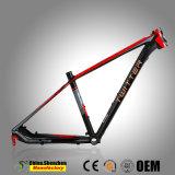 Enrutamiento de cables internos Marco de bicicleta de montaña de aluminio con el logotipo de sólidos