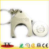 House Shape para moedas Coin Chaveiro com o logotipo personalizado