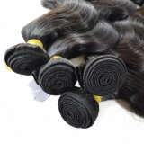 Бразильские человеческие волосы 100% дюйма выдвижений 10-40 волос объемной волны