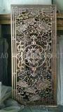 BronzeEdelstahl geschnitzter Bildschirm, schöne hochwertige Edelstahl-Partition