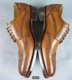 Lederne handgemachte SpitzenHochzeitsfest-Schuhe