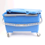 Limpeza de esfregona plana de microfibras de plástico da Caçamba Mop balde plástico da caçamba