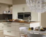 Gabinete de cozinha bruto elevado do MDF da laca de Ritz
